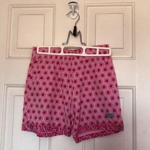Girl's pink floral naartjie shorts